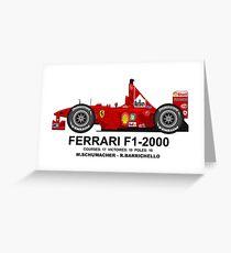 FERRARI F1-2000 Greeting Card