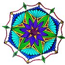Turquoise and Purple Mandala by Richard-Gary Butler