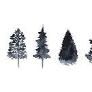 « Watercolor Pine Trees » par Threeleaves