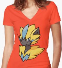 Zeraora bust Fitted V-Neck T-Shirt
