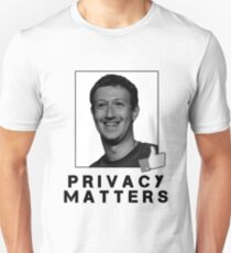 Privacy Matters Mark Unisex T-Shirt