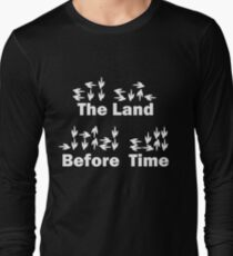 Dinotopia Inspired The Land Before Time Text Long Sleeve T-Shirt