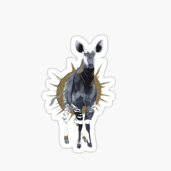 Watercolor Okapi Sticker
