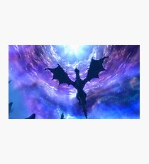 Skyrim Dragon Poster Photographic Print