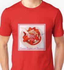 Icecream Spaghetti with Strawberries Unisex T-Shirt