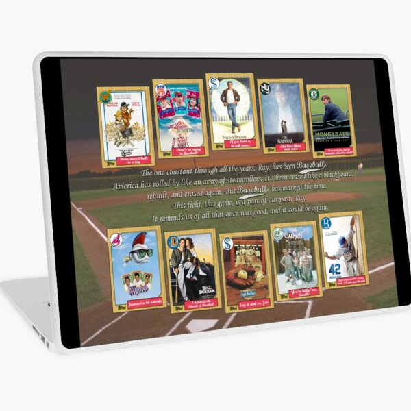Greatest Baseball Movies with Field of Dreams Quote Laptop Skin