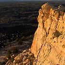 Sandstone Bluff at Eventide, El Malpais National Monument, NM by Mitchell Tillison