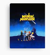 Day of the Tentacle - Maniac Mansion (High Contrast) Canvas Print