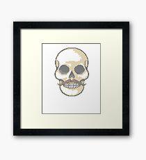 Make a Stitchery on Your T-Shirt! Skull with Mustache Biker Framed Print