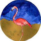 Flamingo At Night by kroksg