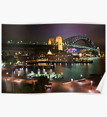 """Sydney Harbour Night Time Lights"" Poster"
