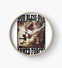 God bless our armed forces - UK Clock