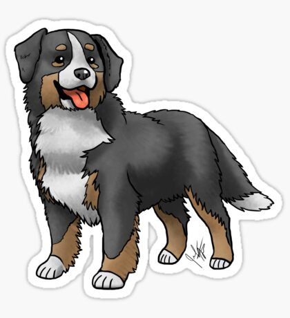 Bernese Mountain Dog Glossy Sticker