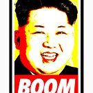 Kin jong Un Boom (yellow red) by Thelittlelord