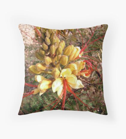 Yellow and Red flower Throw Pillow