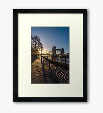 A Wintry Sunrise in London Framed Print