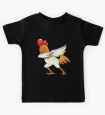Dabbing CHICKEN - ROOSTER | Dab Animal  Kids Tee
