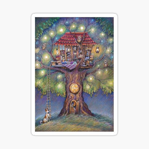 Tree House Sticker