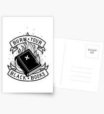 Brennen Sie Ihre schwarzen Bücher Postkarten