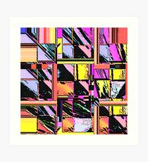 Abstract Color Squares Art Print