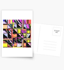 Abstract Color Squares Postcards