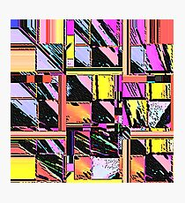 Abstract Color Squares Photographic Print
