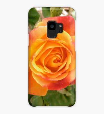 Orange and red rose Case/Skin for Samsung Galaxy