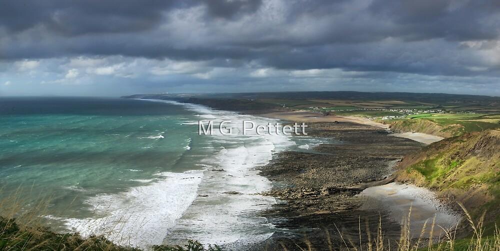 Panorama of Widemouth Bay by M G  Pettett