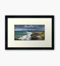 Panorama of Widemouth Bay Framed Print