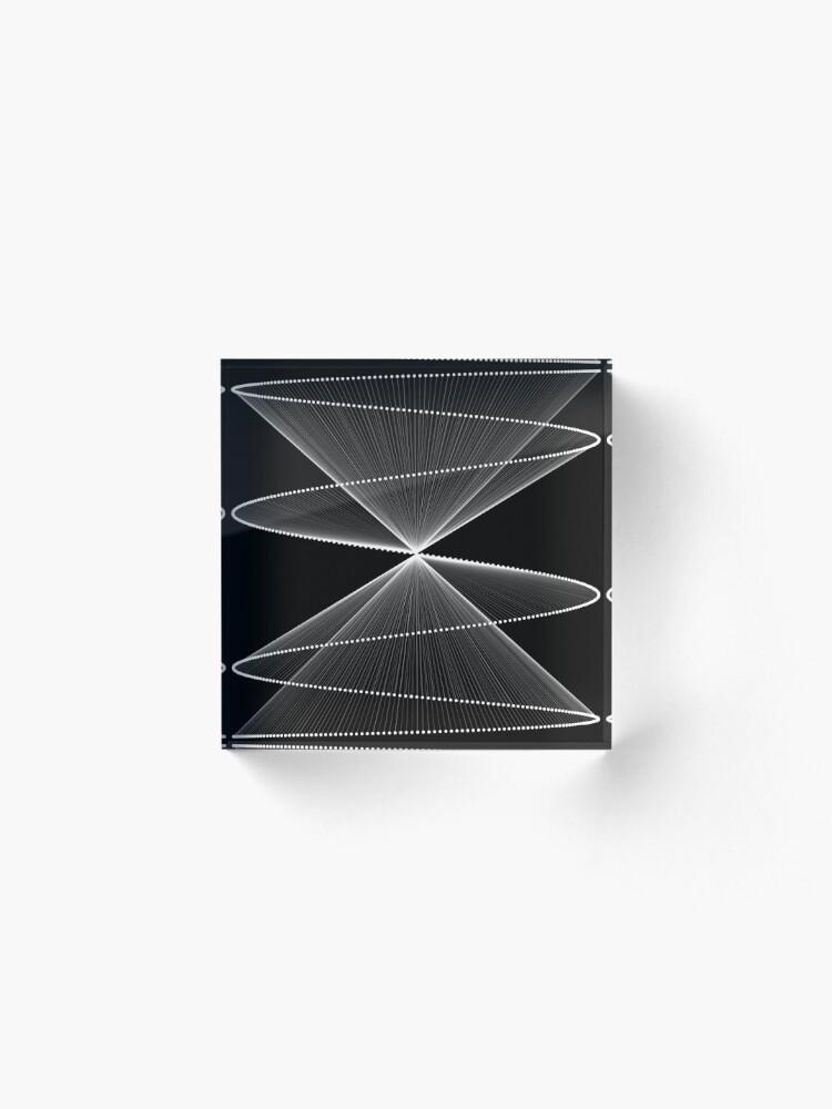 Alternate view of Lissajous XXVI Acrylic Block