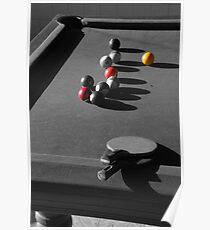 Pool and ping pong Poster
