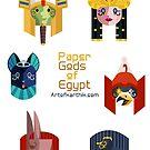 Egyptian God Stickers 1 by artkarthik