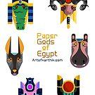 Egyptian God Stickers 2 by artkarthik
