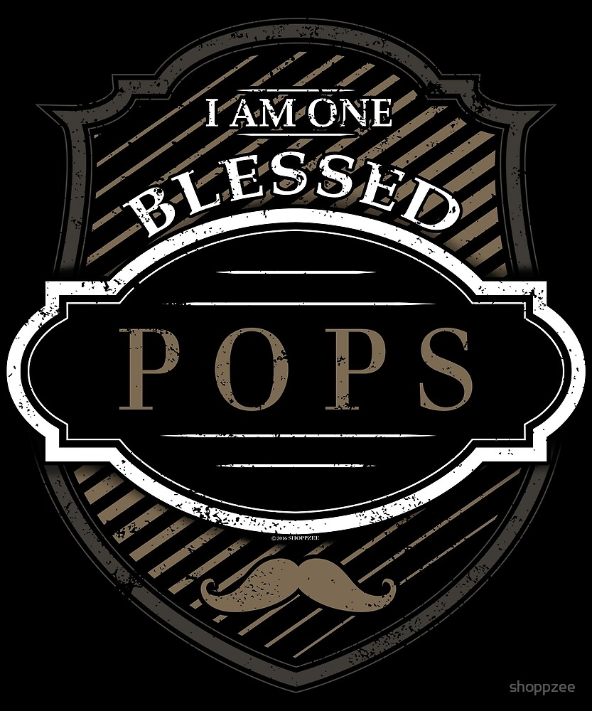 One Blessed Pops Shirt Grandpa Gifts by shoppzee