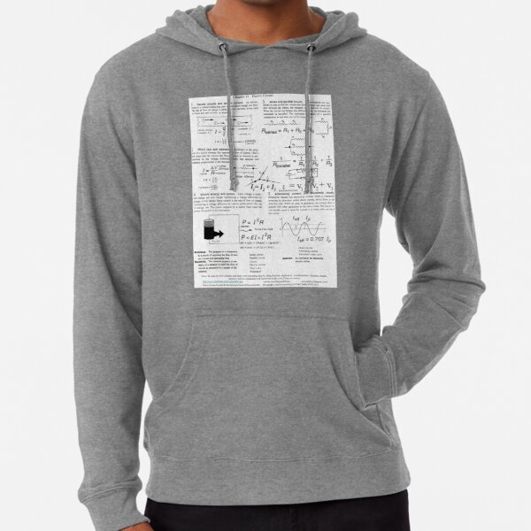 Electric Circuits, Current, Charge, Power, Voltage, resistance, Resistance, Resistivity Lightweight Hoodie
