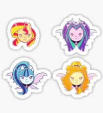 MLP - The Dazzlings and Sunset Shimmer Sticker