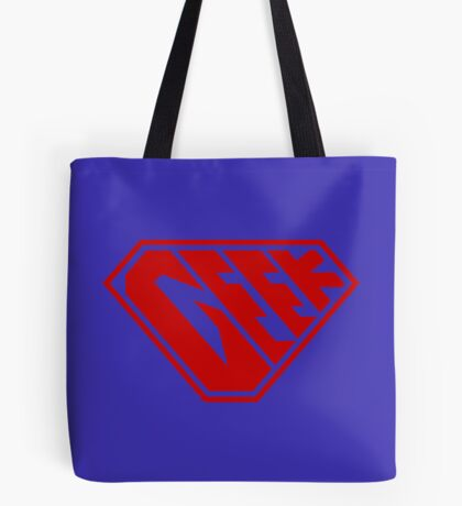 Geek SuperEmpowered (Red) Tote Bag