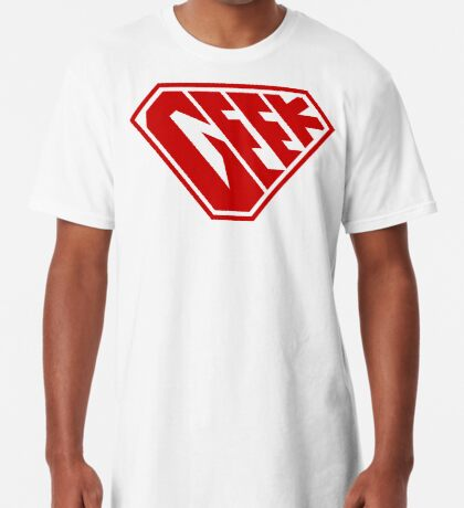 Geek SuperEmpowered (Red) Long T-Shirt