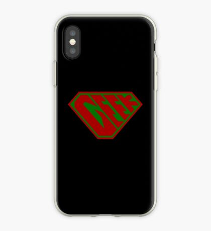 Geek SuperEmpowered (Red and Green) iPhone Case