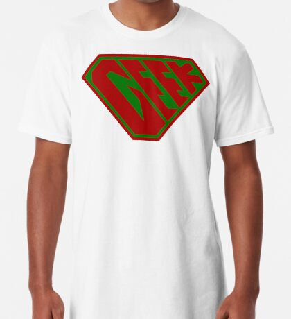 Geek SuperEmpowered (Red and Green) Long T-Shirt