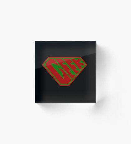 Geek SuperEmpowered (Red and Green) Acrylic Block