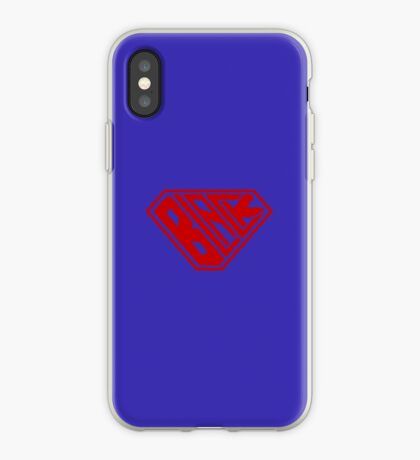 Black SuperEmpowered (Red) iPhone Case