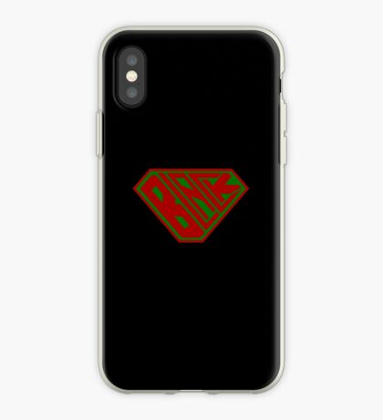Black SuperEmpowered (Red and Green) iPhone Case