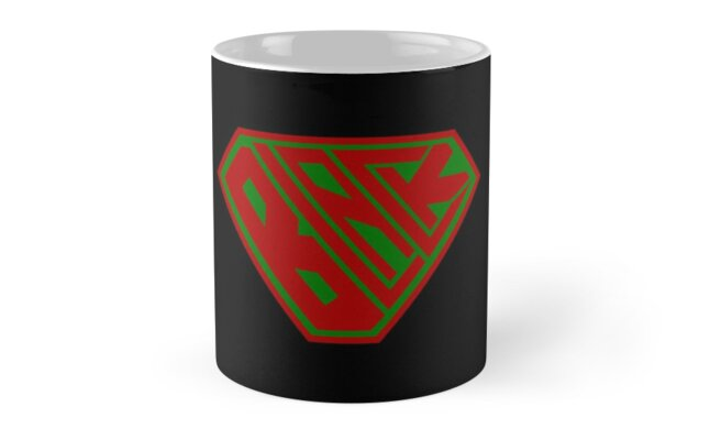 Black SuperEmpowered (Red and Green) by Carbon-Fibre Media