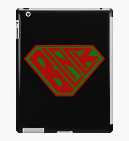 Black SuperEmpowered (Red and Green) iPad Case/Skin