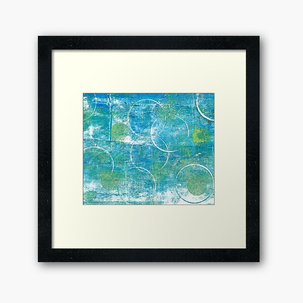 Mono Test - Scan Framed Art Print
