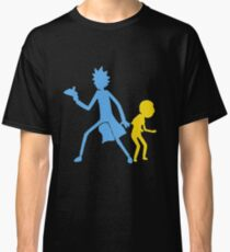 Funny Rick And Morty Silhouette Classic T-Shirt