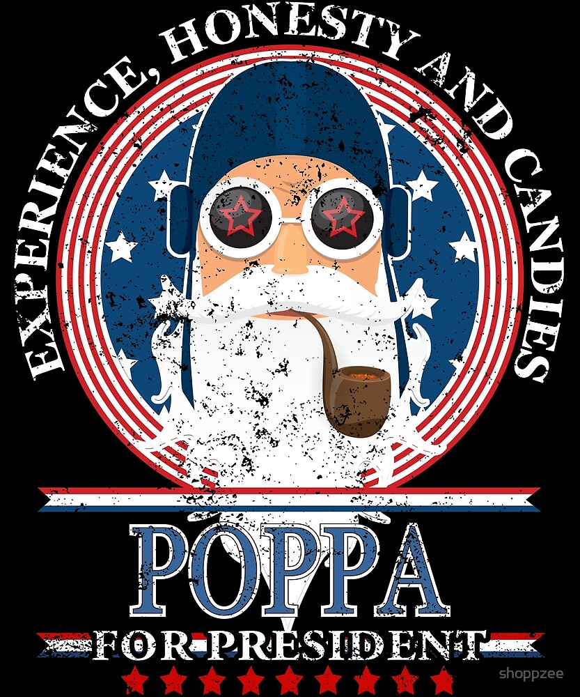 Poppa For President Grandpa To Be Gifts Grandpa Gifts by shoppzee
