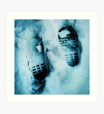 Footprints in the Snow Art Print