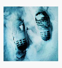 Footprints in the Snow Photographic Print